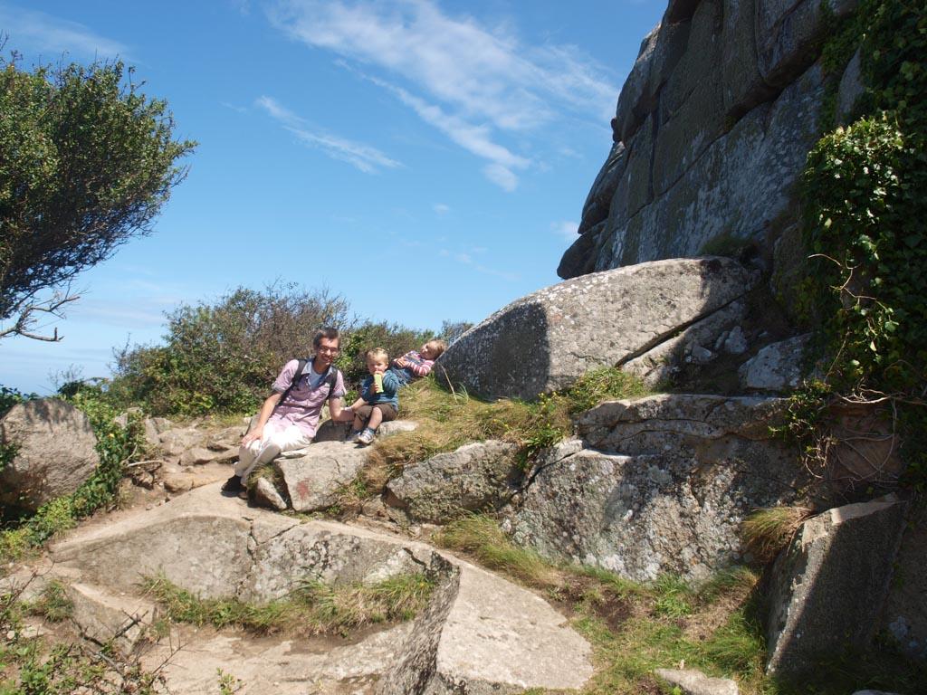 En natuurlijk moet er op de rotsen worden geklommen.