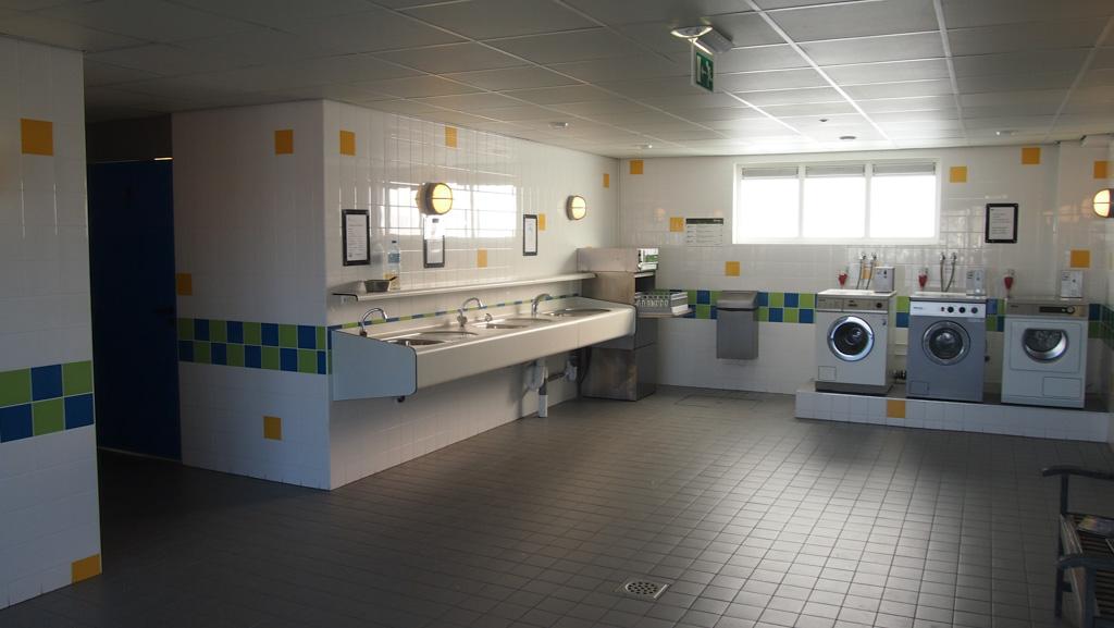 Het sanitair is hartstikke ruim en schoon.