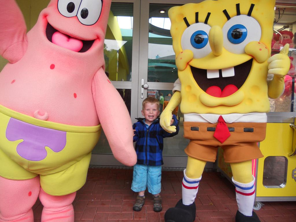 Meet SpongeBob in Moviepark Germany.