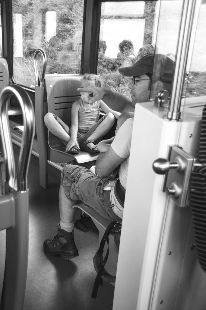 Met kinderen is de trein ideaal!