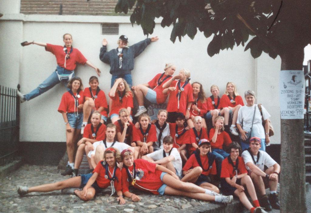 1994: scoutingkamp met scoutinggroep Kameleon Kinheim.