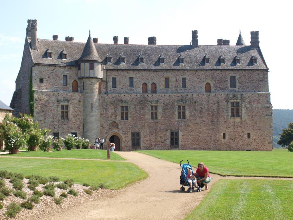 La Roche Jagu in Bretagne met een prachtige kasteeltuin.