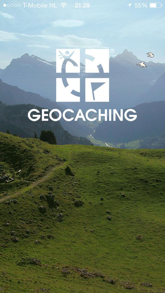 De geocaching-app