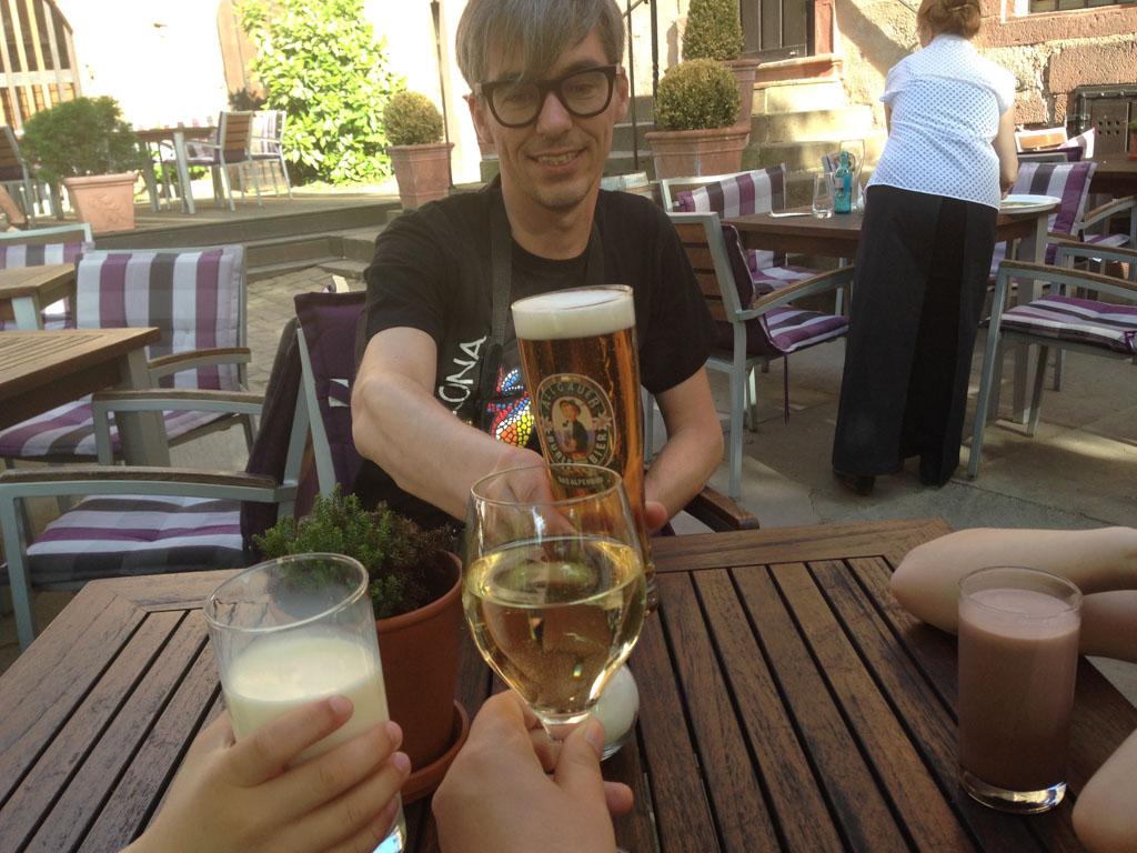 Proost! Op het mooie Heidelberg.
