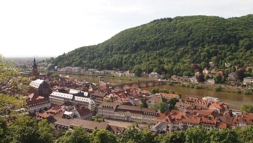 Het uitzicht op Heidelberg is overal mooi.