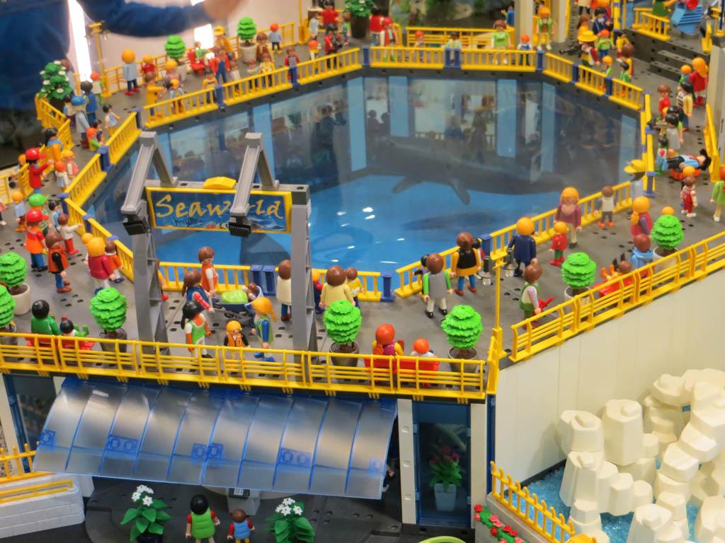 Extra leuk: de Playmobil tentoonstelling met o.a. Seaworld nagebouwd.