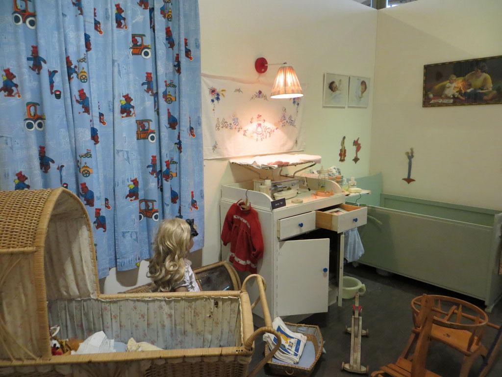 Kinderkamer uit vroegere tijden.