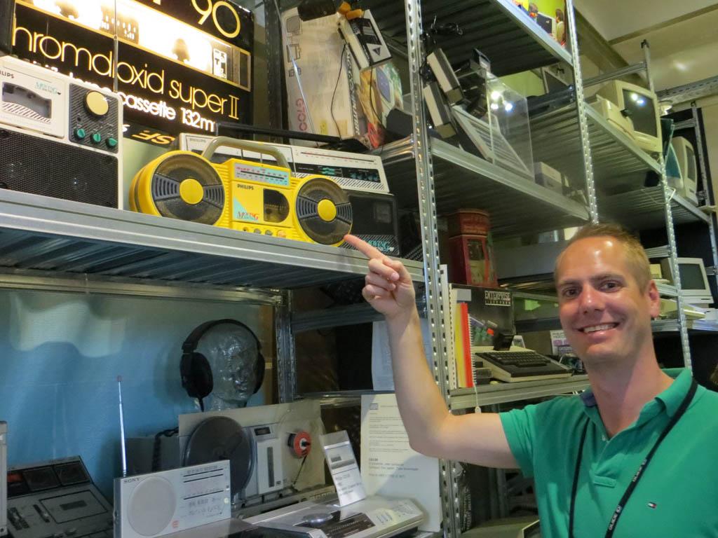 Leuk, de oude radio van Viktor!