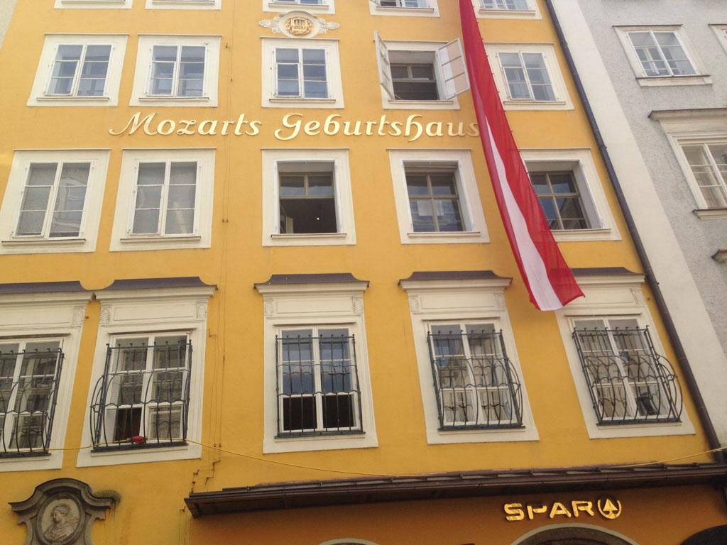 Het geboortehuis van Mozart.