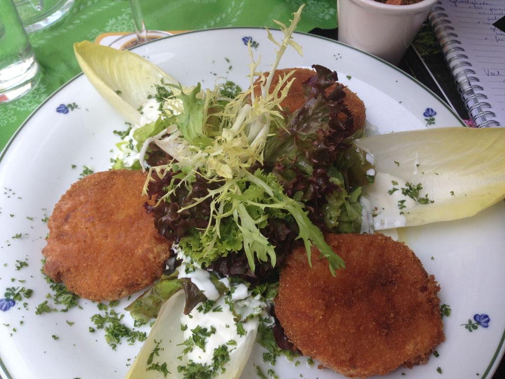 Mijn lunch bij Zwettler's.