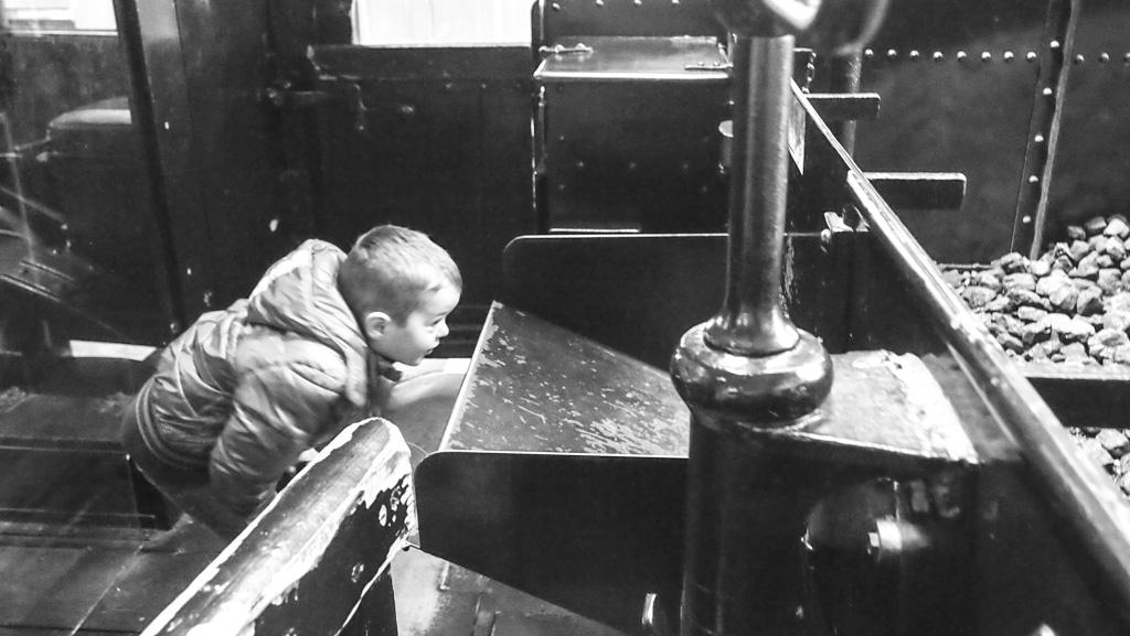 Spoorwegmuseum stoomtrein kijken