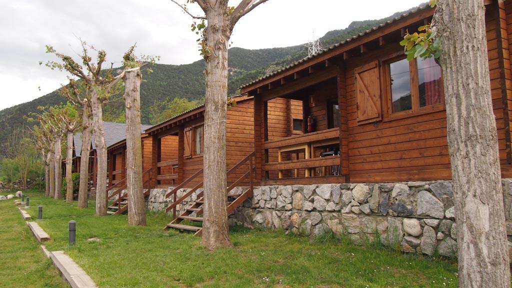 Onze houten bungalow.