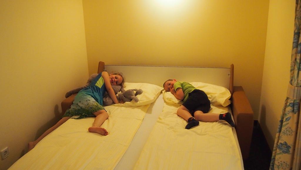 Het bed van de kinderen.