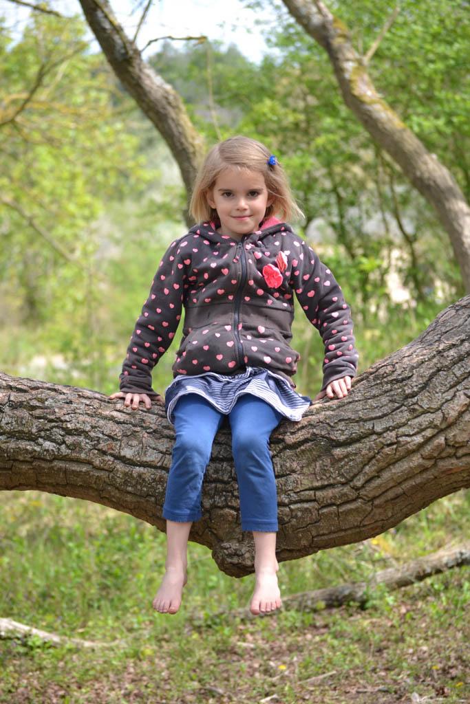 In de boom klimmen.