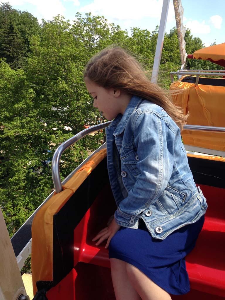 In het reuzenrad bij Taste of Amsterdam.