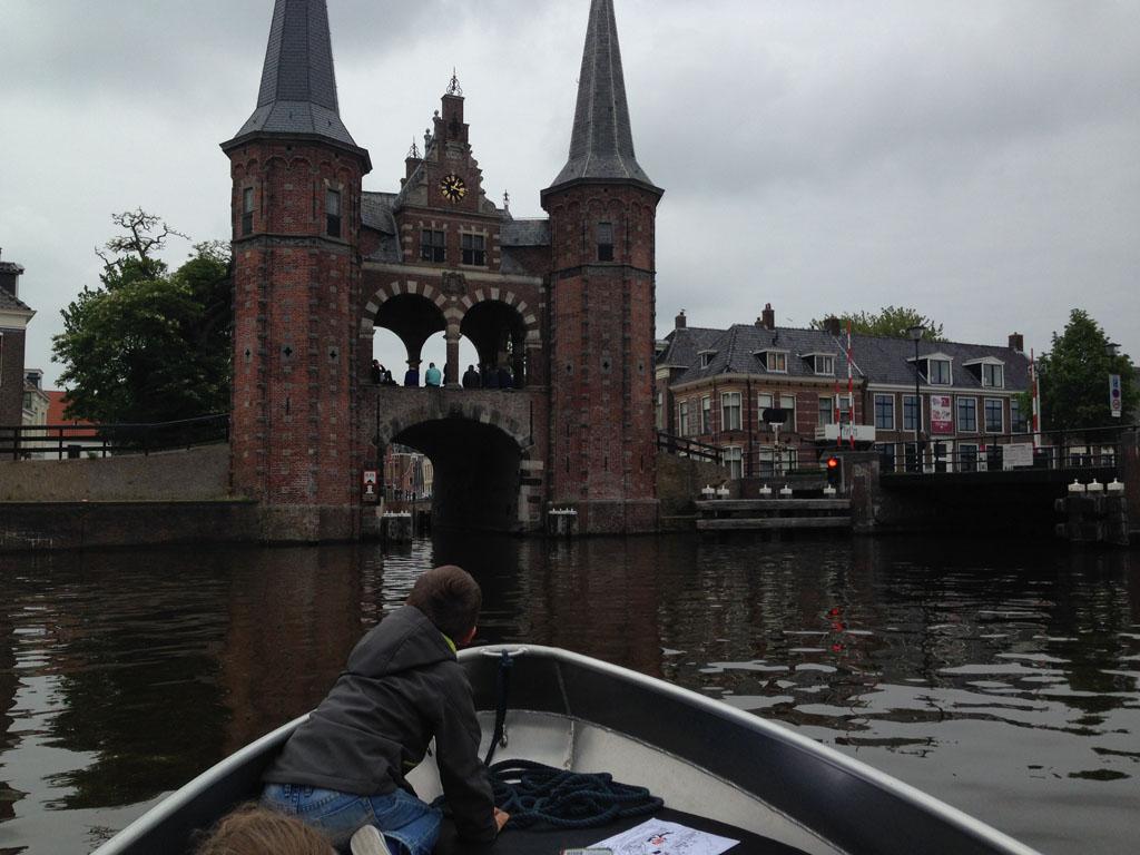 Het bekendste gebouw van Sneek: De Waterpoort.