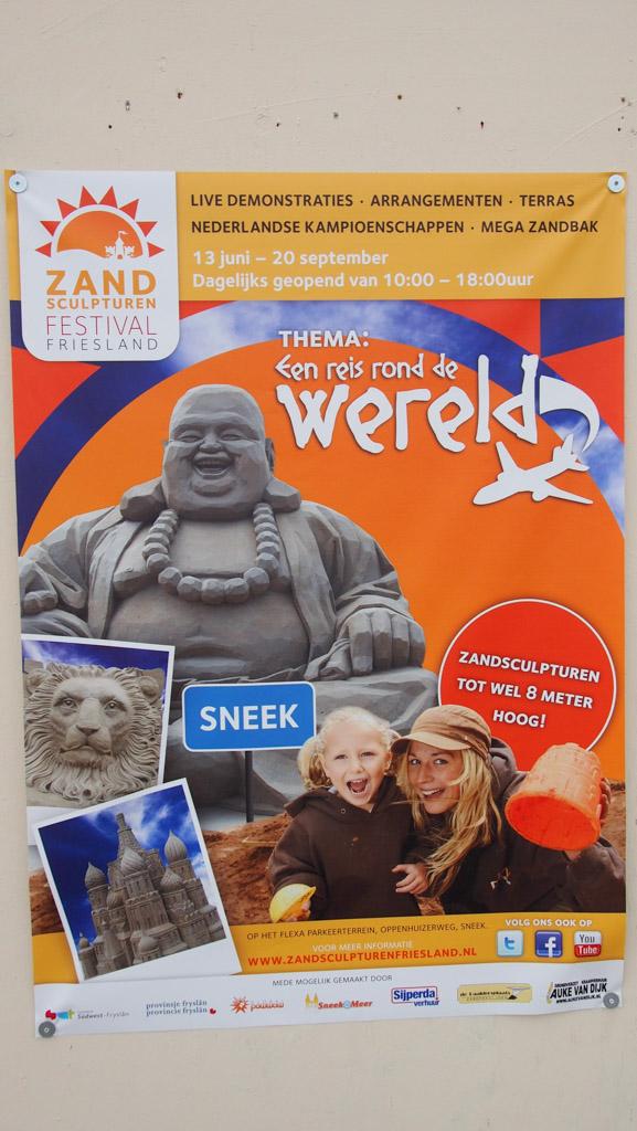 Een reis rond de wereld bij het Zandsculpturenfestival Friesland in Sneek.