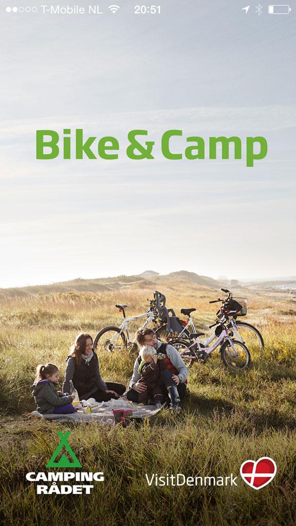 Bike & Camp app van Denemarken.