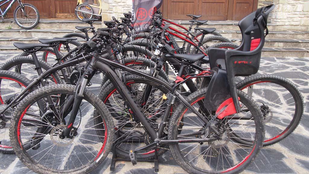 Als je gaat mountainbiken in de Pyreneeën met kinderen dan kunnen ze tot 22 kilo achterop.