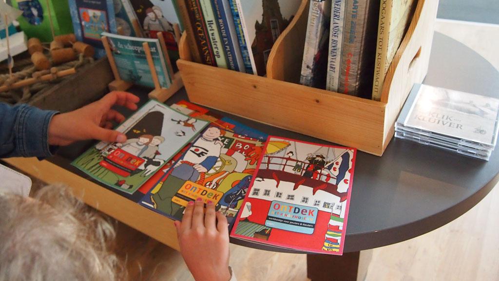 Er is keuze uit meerdere werkboekjes voor het kindermuseum.