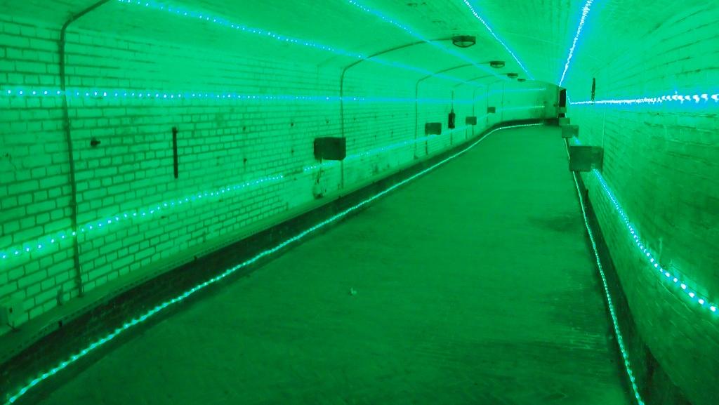 De desorientatietunnel.