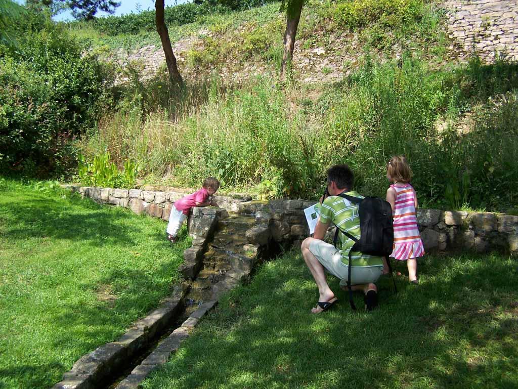 De kleine waterstroompjes zijn erg leuk voor kinderen.