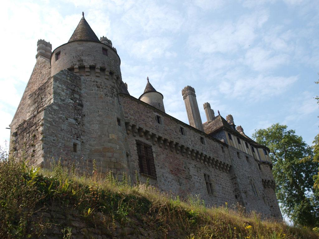 De achterkant van het kasteel.