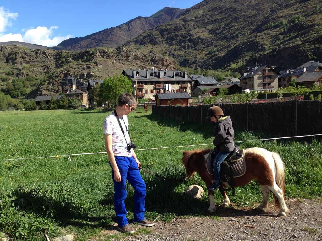 Aan het einde van het pad wilde de pony van Camiel echt alleen nog maar gras eten.