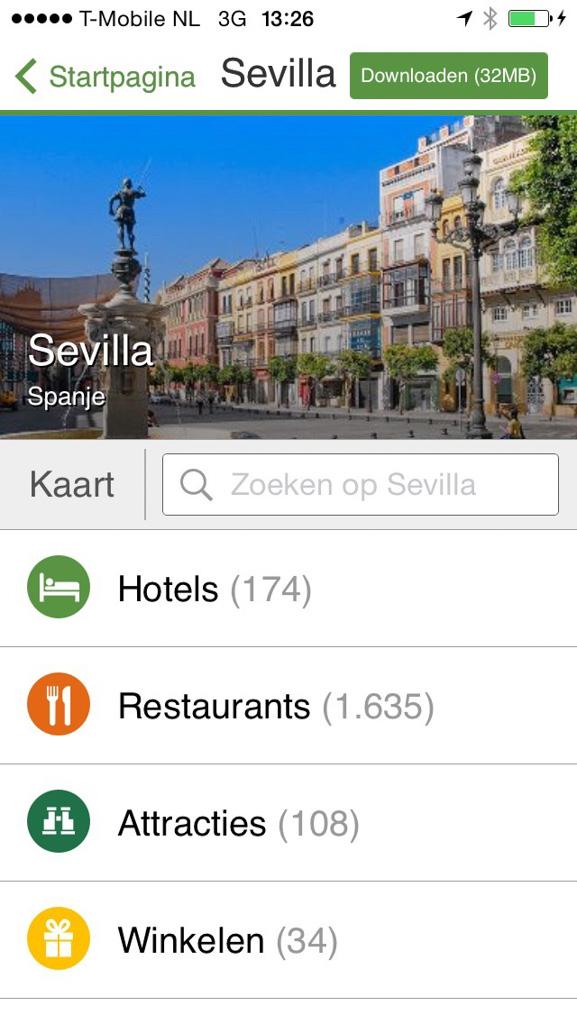 In de Tripadvisor-app kan je makkelijk op plaats zoeken.