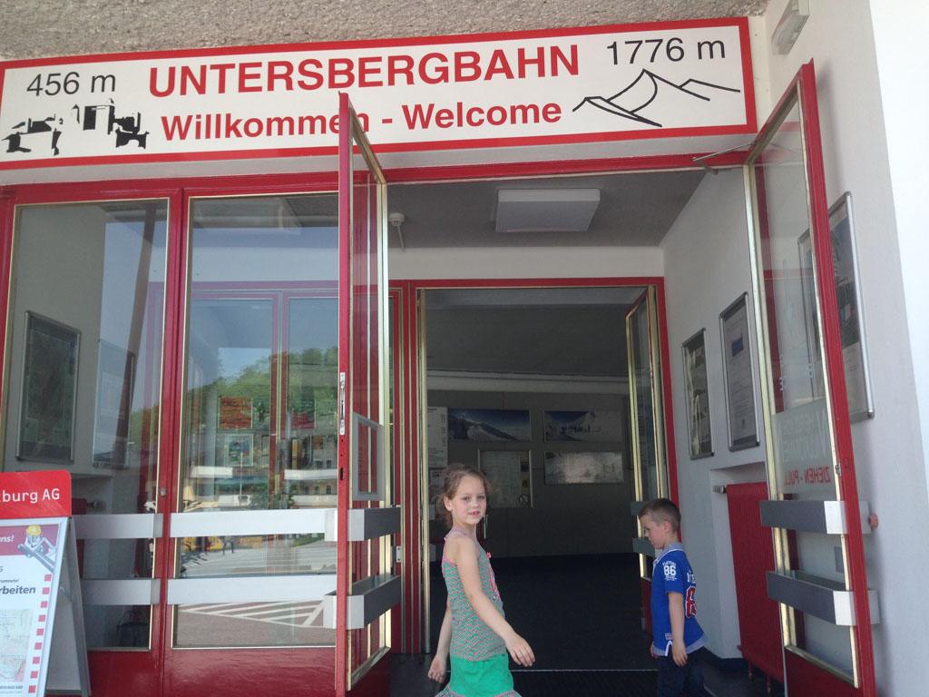 Met de Untersbergbahn naar de top van de Untersberg.