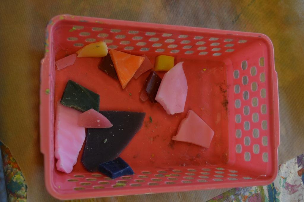 De mooiste kleuren worden verzameld in een mandje.