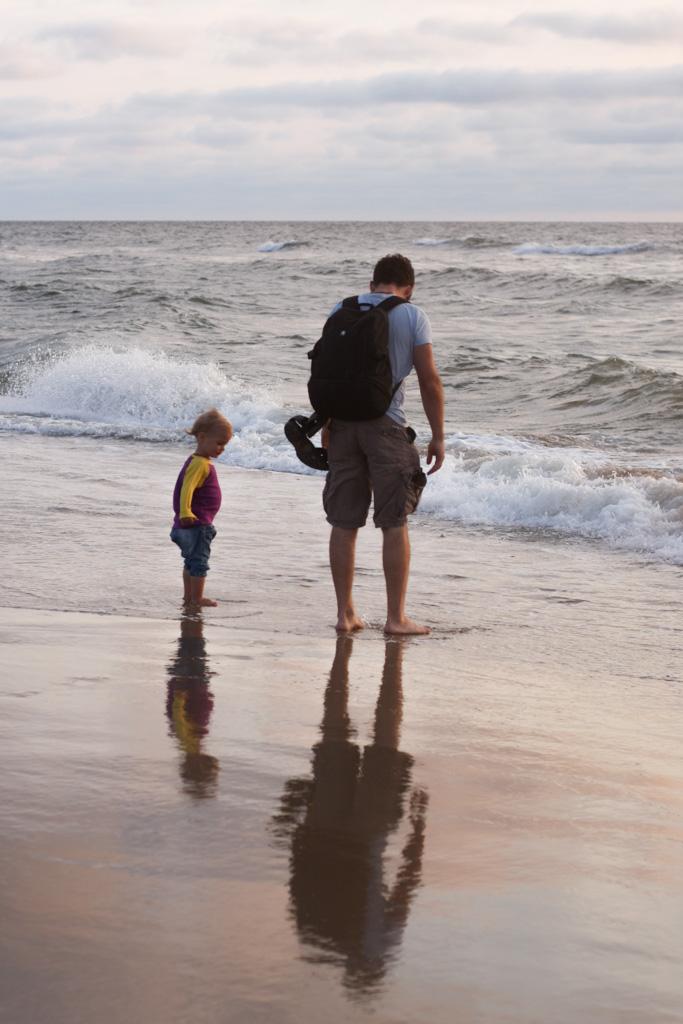 De mooiste foto's krijg je op  momenten dat de kinderen (en papa) even niet opletten.