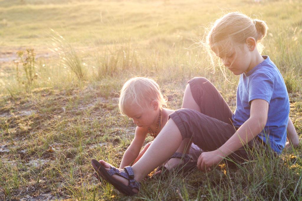 Geen staatsieportret, maar gewoon een foto als de kinderen bezig zijn.
