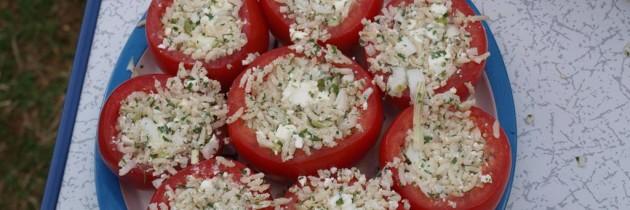 Koken op de camping: gevulde courgettes en tomaten