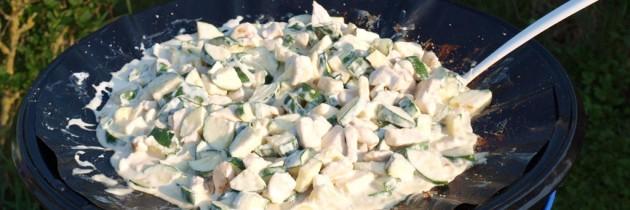 Koken op de camping: kip-courgette schotel