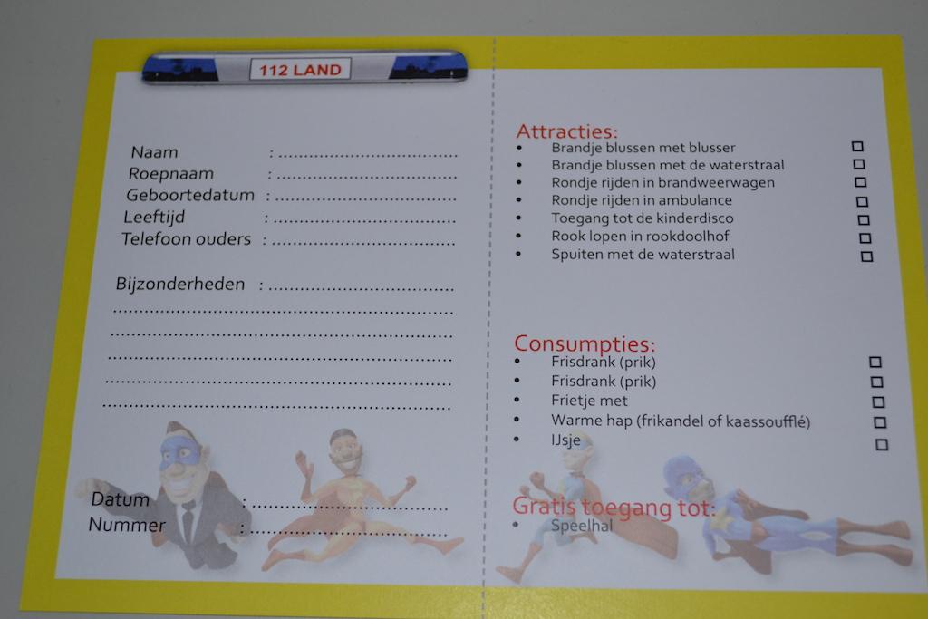 De uitrukkaart met alle activiteiten.