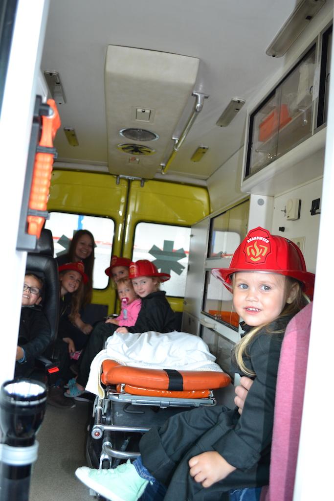 Een ritje in de ambulance.