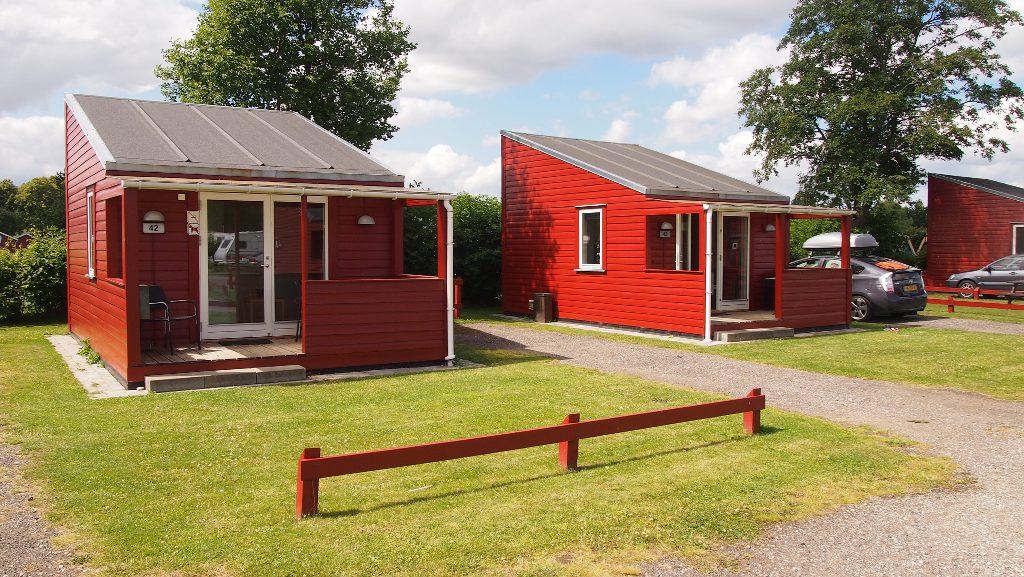 Onze hut op Absalon Camping bij Kopenhagen.