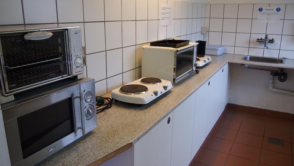 Er is ook ruimte om te koken.
