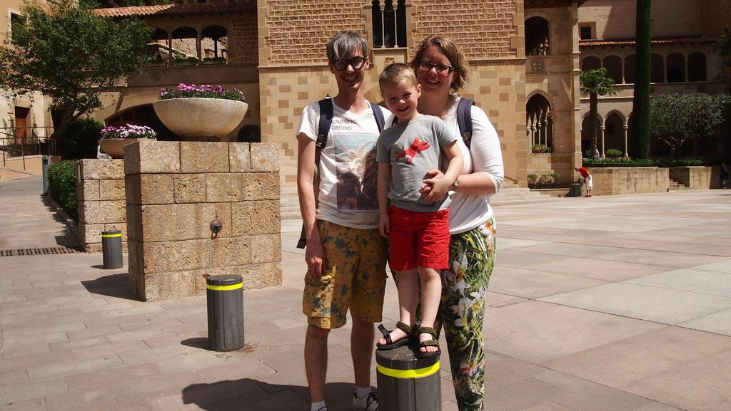Fijn met grotere kinderen: Maureen maakte deze foto van ons.