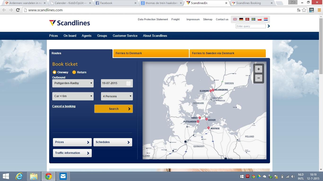 Alle routes van Scandlines staan overzichtelijk op een kaart op de homepage.