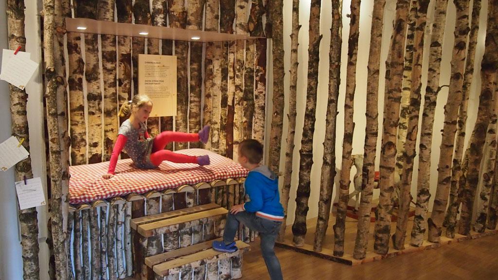 Een deel van het museum staat in het teken van hout.