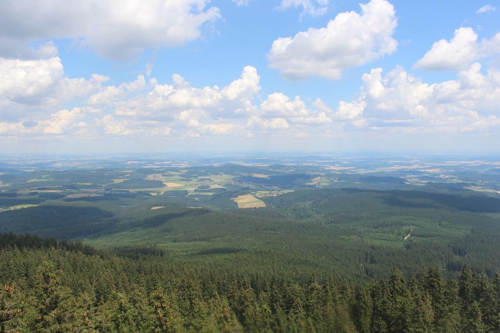 Uitzicht vanaf de Boubin.
