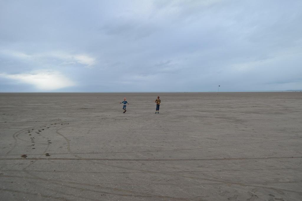 Eindeloze strandwandelingen.