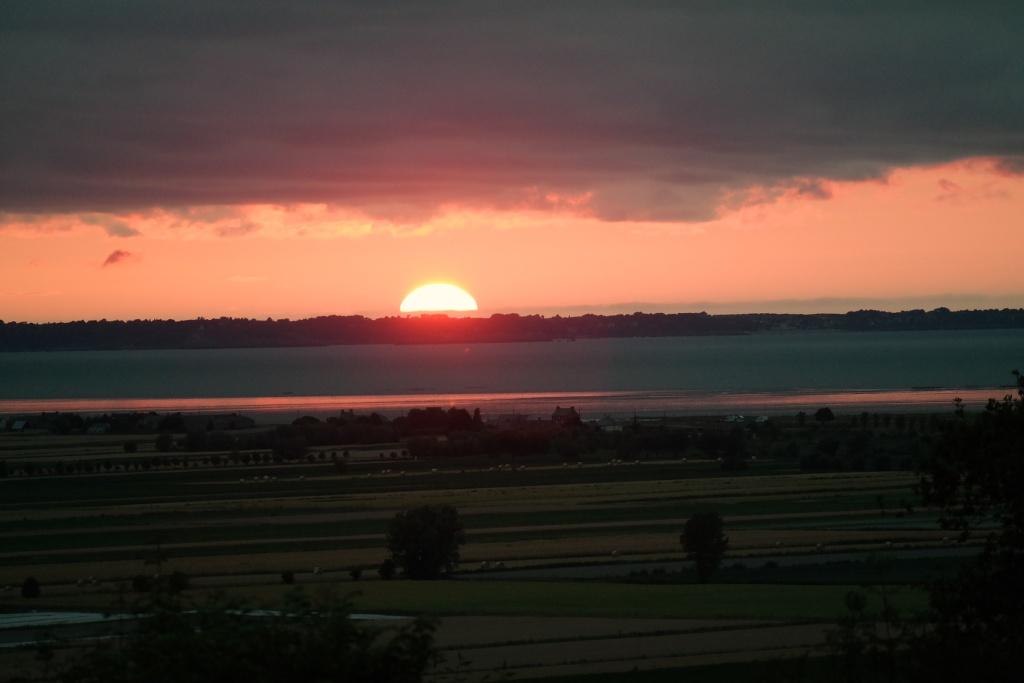 Elke avond genieten van de ondergaande zon.