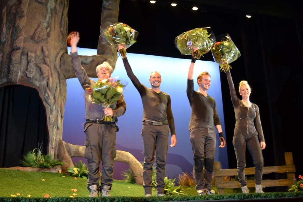 Het applause aan het einde van de voorstelling.