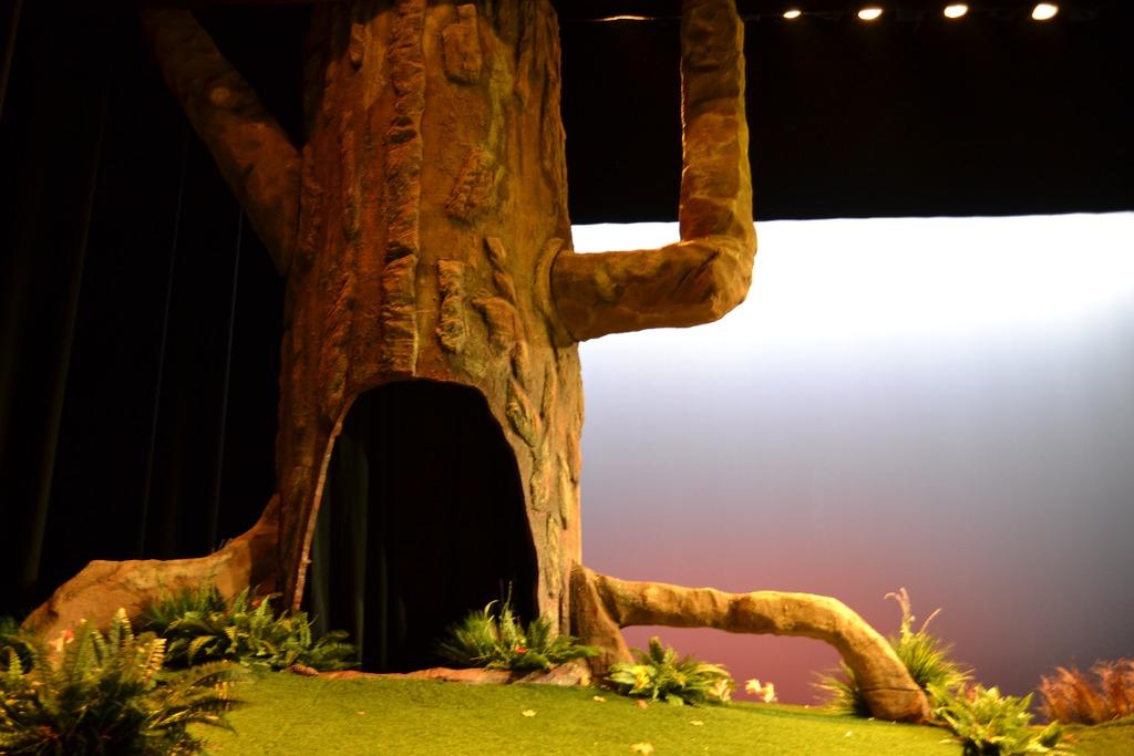 Grote Haas en Hazeltje hebben in de boom een holletje.