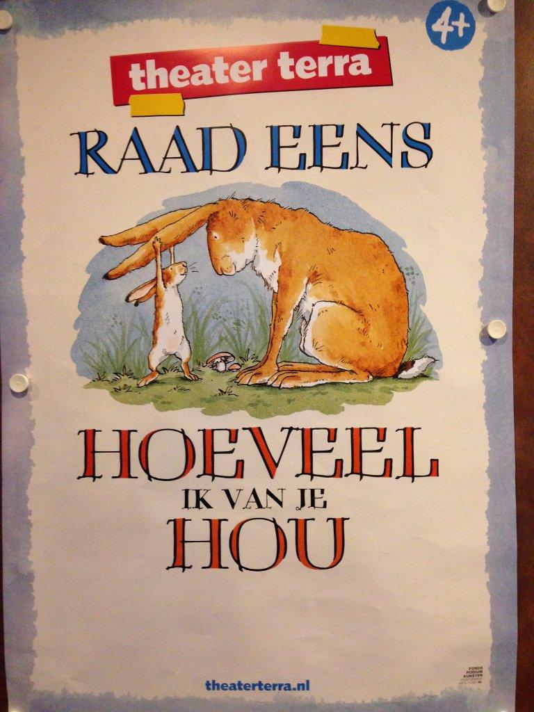 Het affiche is meteen herkenbaar voor de lezers van het boek.