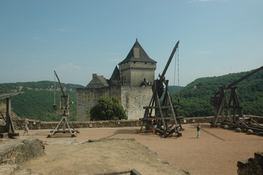 Chateau Castelnaud met een echt riddermuseum.