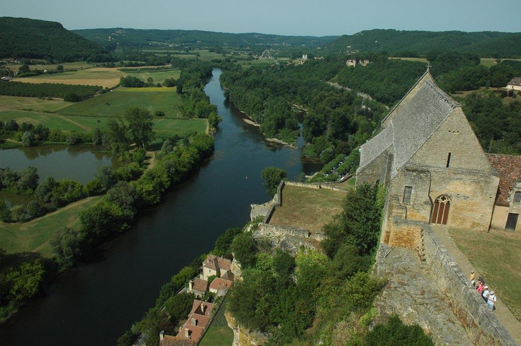 Uitzicht vanaf chateau Beynac.